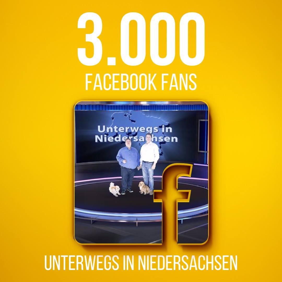 3000 Fans auf der Facebook-Seite